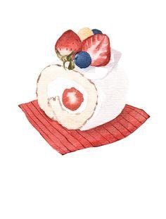 Dessert watercolor