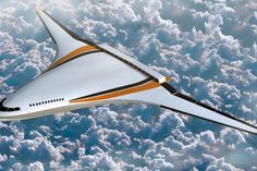 Air traffic and greenhouse gas emissions are rising, leading aircraft designers to devise new aeroplane designs such as this blended wing body thought up by experts at Nasa and Boeing Diesel Punk, Blended Wing Body, Flying Wing, Future Transportation, Transportation Technology, V Max, Futuristic Technology, Futuristic Vehicles, Space Photos
