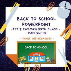 Back to School Powerpoint – Mash. The New School, New School Year, Going Back To School, Classroom Procedures, Classroom Rules, Meet The Teacher, New Teachers, New Class, Brain Breaks