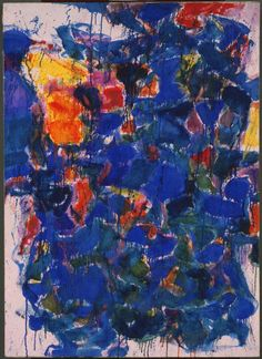 Blue by Sam Francis | The Phillips Collection  (exhibited in Sam Francis exhibition in 1958, the year Morris Louis began making his Veils)
