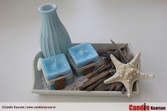 Zomerse Zand Kaarsen #DIY #candle #kaarsen #summer #aqua
