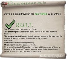 Present Perfect-Past simple