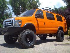 . 4x4 Van, 4x4 Camper Van, Bus Camper, Campers, Off Road Camping, Van Camping, Big Trucks, Ford Trucks, Lifted Van