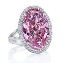 A pink diamond ring fetched $32 million (HKD 250 million) at a Christies auction in Hong Kong less than two weeks after Sothebys failed to sell another diamond of the same color. The oval stone Pink Promise set in a ring embellished with smaller diamonds