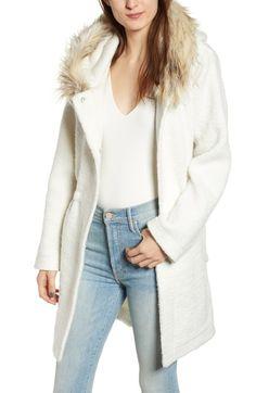 dfce7f6a2f74 New BB Dakota Coat On Ribbed Coat Faux Fur Trim online