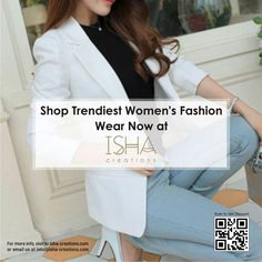 ISHA Creations is a community marketplace that empowers people to connect, both online and offline top selling products, brand new fashion & quality brand products. Fashion Shoot, Fashion Wear, New Fashion, Fashion Models, High Fashion, Creation Homes, Business Attire, Fashion Stylist, Haute Couture