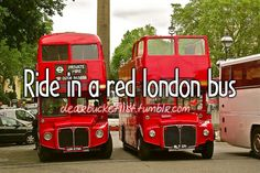 I LOVE BIG RED BUS!