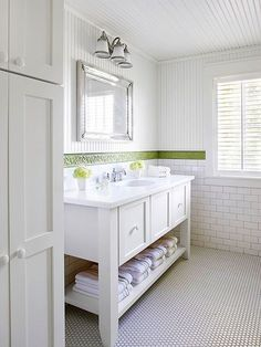 Cottage Bath Ideas Love the easy living look of a cottage style bathroom? It's easier than you think to get the look. Here are 5 ways to add cottage style to your bathroom.