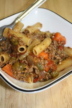 """""""Pot Roast"""" pasta skillet when you forget to put the roast in the crock-pot!"""