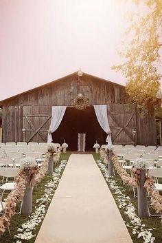 45 Romantic Barn Wedding Decorations Planning a rustic wedding? Create a romantic barn wedding decorations, pay attention to lightening and of course use straw bale seating. Wedding Ceremony Ideas, Barn Wedding Decorations, Rustic Wedding Venues, Wedding Themes, Wedding Tips, Fall Wedding, Wedding Events, Dream Wedding, Outdoor Weddings
