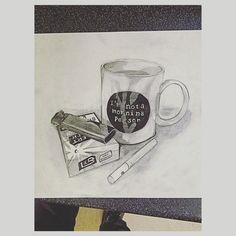 Random still life drawing. #pencilwork #stilllife #bored #work #objects