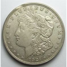 1921 Morgan Silver Dollar with Rare Mint Error - Clipped Planchet  http://www.propertyroom.com/l/l/9514143
