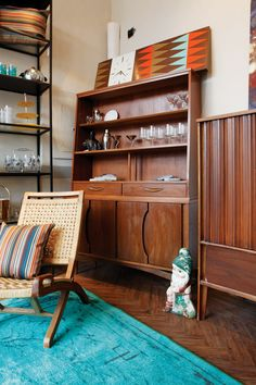 Antiques, like this Midcentury modern cabinet get a new life at @omforme in Minneapolis. Photo by Alex Steinberg