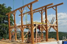 Tips And Ideas For DIY Pole Barn Are you looking for an easy, inexpensive way to add additional storage to your property? If so, a DIY Pole barn homes Diy Pole Barn, Pole Barn Homes, Timber Frame Homes, Timber Frames, Log Shed, Shed Frame, Building A Cabin, Best Tiny House, Barns Sheds