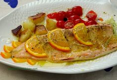 Baked Trout with Orange low in calories only a few min prep!