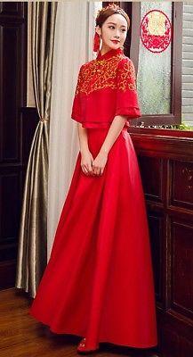 5324e72782a Chinese wedding dress QiPao Kwa cheongsam 18 Sizes available No Custom make