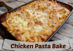 Chicken Pasta Bake - Pretty quick to whip up and you can use up old chicken to make it an even quicker meal!