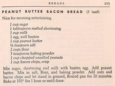 Rainbow Gospel Radio | Peanut Butter Bacon Bread