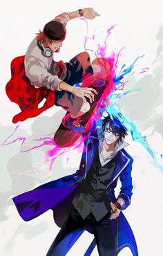 Misaki and Saruhiko // K Project Anime Manga, Anime Art, K Project Anime, Return Of Kings, Deadman Wonderland, Awesome Anime, Tokyo, Some Pictures, Me Me Me Anime