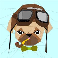 (7) Имя: 'Лоскутное: Hipster бульдог