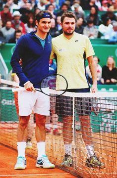 Roger Federer with Stan Warinka #tennis #sports