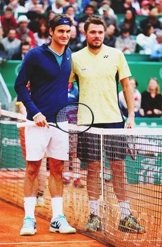 Roger Federer with Stan Warinka #tennis #sports