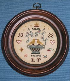 Lucy Pryors Pocket Watch Sampler (reproduction)