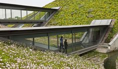// Green roof folded in Shanghai by SWA+ Morphosis Architects