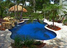 Prefabulous Blue Hawaiian Fiberglass Pools and Spas | Natural