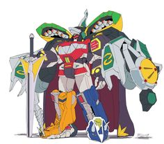Power Rangers Megazord, Go Go Power Rangers, Kamen Rider, Pawer Rangers, Live Action, Green Ranger, Hero Time, Nerd Art, Mecha Anime