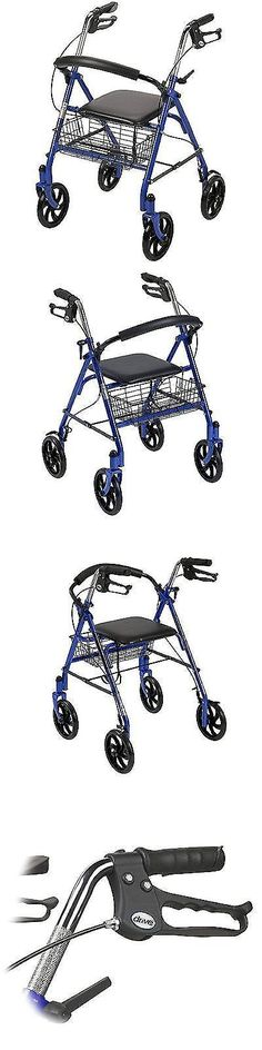 Walkers and Canes: Rollator Walker With Seat Steel Wheelchair Rolling 7.5 Wheels Mobility, No Tax -> BUY IT NOW ONLY: $110.26 on eBay!