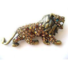 Alpha Delta Pi or Phi Mu - Lion brooch