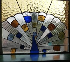Stained Glass Window Panel - Peacock