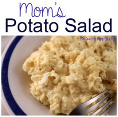 Mom's Potato Salad Quick, Easy and Oh So Good! www.thecraftyblogstalker.com
