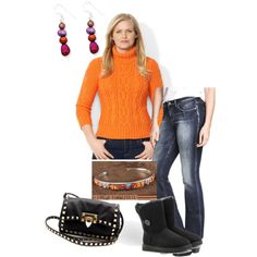 A fashion look from December 2014 featuring Lauren Ralph Lauren sweaters, H&M jeans and UGG Australia boots. Browse and shop related looks.