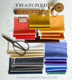 Thatched fabrics from Robin Pickens and Moda- 25 new colors