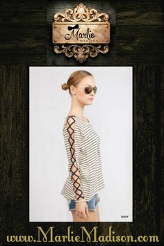 Long Sleeves Laced Up http://www.marliemadison.com/tops