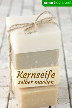 Make your own vegetable soap without palm oil- Pflanzliche Kernseife selber machen ohne Palmöl Kernseife is a versatile home remedy, it can even be produced with just a few ingredients. E Cosmetics, Natural Cosmetics, All Natural Makeup, Organic Makeup, Natural Beauty, Diy Beauty, Beauty Hacks, Beauty Tips, Beauty Skin