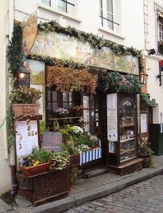 Charming Store Front in London New York bakery