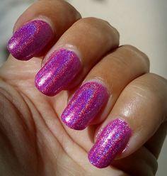 Pink Holographic Nail Polish Glitter Hologram Effect Manicure Nail Polish Pink Holographic Nails, Glitter Nails, Fun Nails, Nail Polish Online, Nail Effects, Pink Drinks, Nail Manicure, Hologram, Beauty Nails