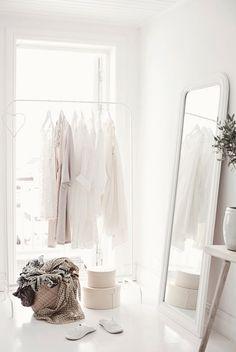 Subtle scandi by Concept by Anna. white open wardrobe