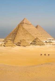 Visit Giza, Egypt to touch a pyramid
