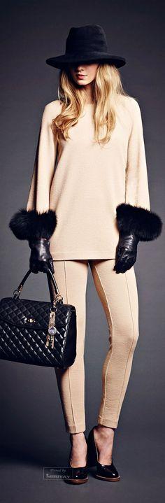 I'd wear with a looser black pant! Rachele 2014-15