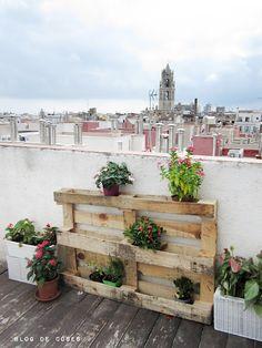 blog de coses: Reinventant un palet garden yard