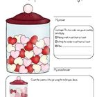 Count the Valentines Day Candy. This worksheet helps students learn techniques for careful counting....