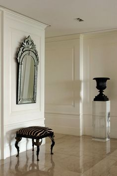 Beautiful white trim and paneling classic traditional