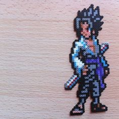 Sasuke Uchiha Naruto hama beads by pandacreations