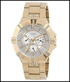 GUESS U13576L1 Dazzling Sport Watch - Gold