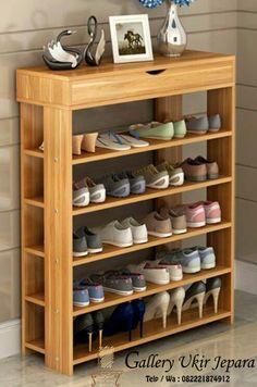 rak sepatu murah terbaru ini terbuat dari bahan baku kayu jati perhutani tpk yang telah teruji kualitasnya, rak sepatu ini mempunya desain minimalis simple sehingga akan menambah indah ruangan keluarga anda