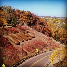 UW-Eau Claire hill, I wonder how many times I walked up and down this?